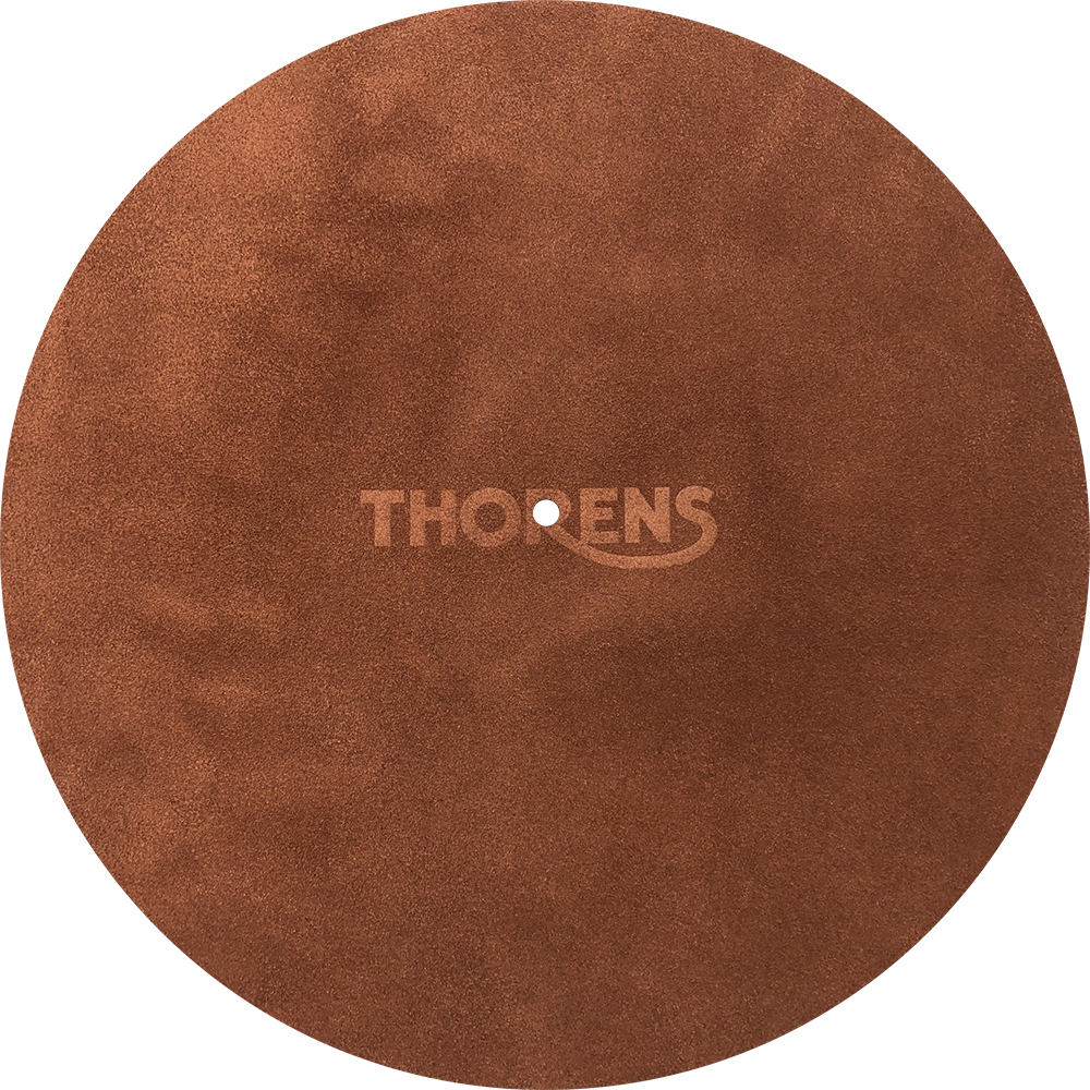 Platter mat leather, brown