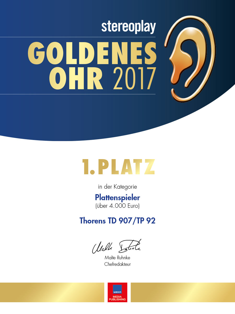 Thorens TD 907 TP 92 | Goldenes Ohr 2017 Stereoplay